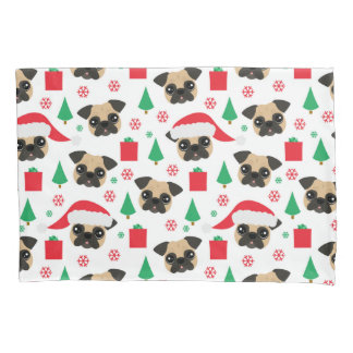 Cute Christmas Pug Pillowcase
