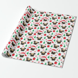 Cute Christmas Pug Wrapping Paper