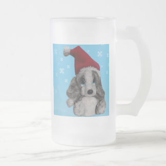 Cute Christmas Puppy In Santa Hat Coffee Mug