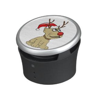 Cute Christmas Reindeer Dog with Antlers Speaker