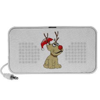 Cute Christmas Reindeer Dog with Antlers Speaker System