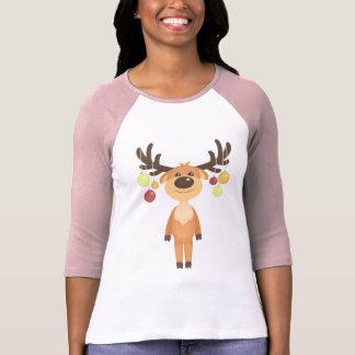 Cute Christmas Reindeer women's t-shirt