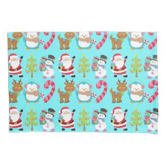 Cute Christmas Santa and Friends Pillowcase