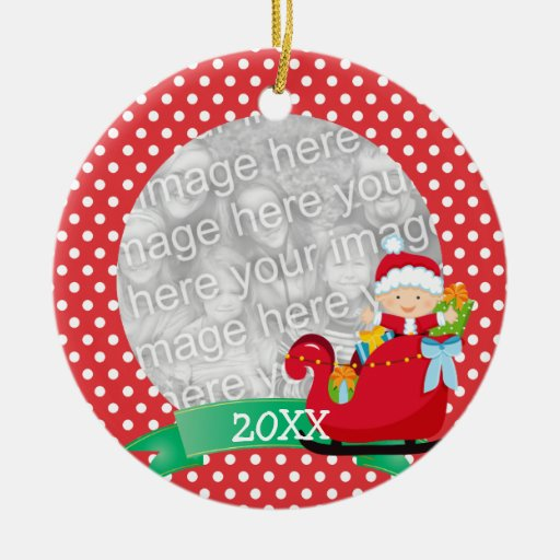 Cute Christmas Santa Baby Red First Christmas Ornament