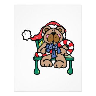 cute christmas santa bear full color flyer