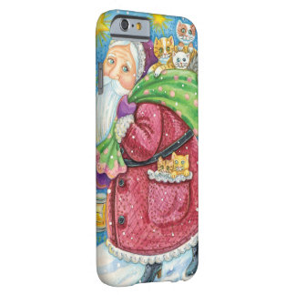 Cute Christmas, Santa Claus with Kittens and Cats! Barely There iPhone 6 Case