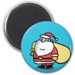 Cute Christmas Santa Magnet