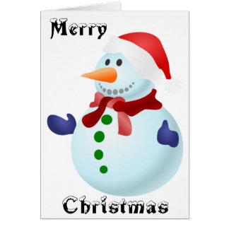 Cute Christmas Santa Snowman Card