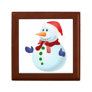 Cute Christmas Santa Snowman Gift Box