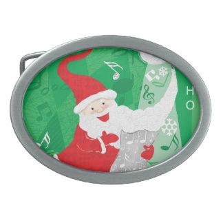 Cute Christmas, Singing and Dancing Santa Claus Belt Buckles