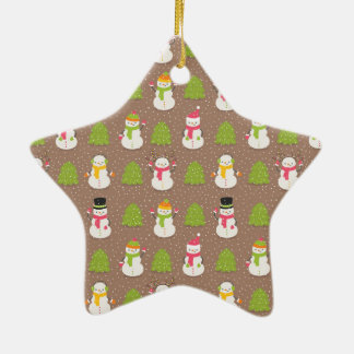 Cute Christmas smiling and waving Snowmans Christmas Ornament