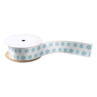 Cute Christmas Snowflake Pattern Satin Ribbon