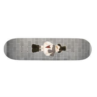 cute christmas snowman 19.7 cm skateboard deck