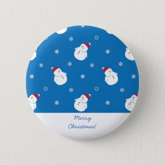 Cute Christmas Snowman Button