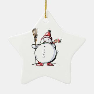 Cute Christmas Snowman Christmas Ornament