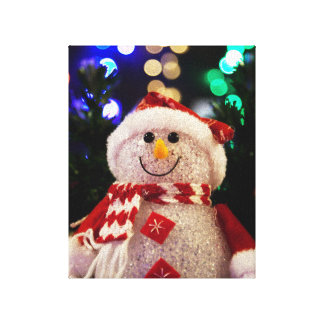 Cute Christmas snowman decoration Canvas Print