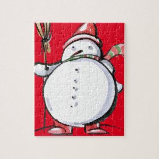 Cute Christmas Snowman Jigsaw Puzzle