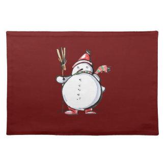 Cute Christmas Snowman Placemat