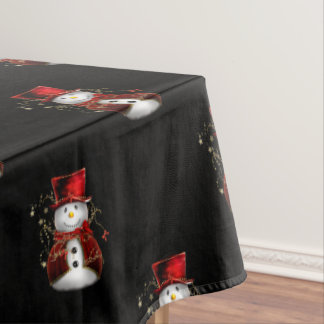 Cute Christmas Snowman Tablecloth