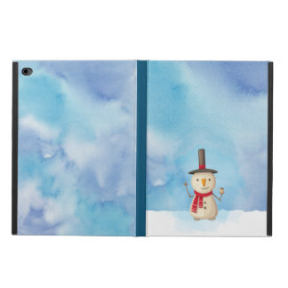 Cute Christmas Snowman Waving And Smiling
