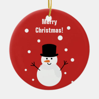 Cute Christmas Snowman Winter Festive Holiday Snow Christmas Ornament
