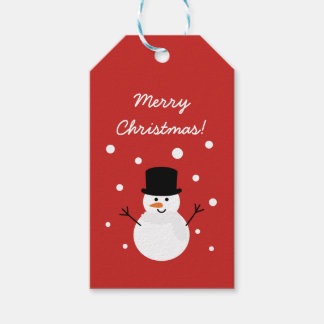 Cute Christmas Snowman Winter Festive Holiday Snow Gift Tags