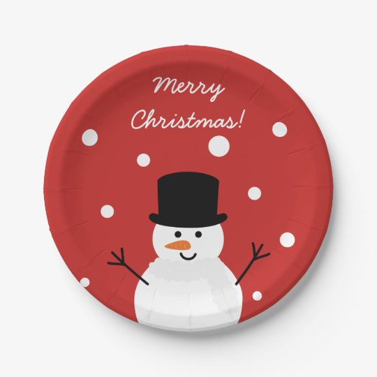 Cute Christmas Snowman Winter Festive Holiday Snow Paper