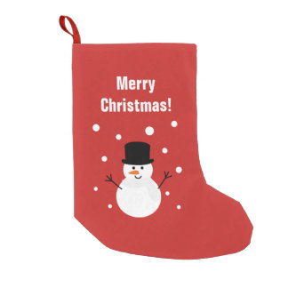 Cute Christmas Snowman Winter Festive Holiday Snow Small Christmas Stocking