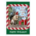 Cute Christmas Squirrel, Have a Nutty Xmas!!