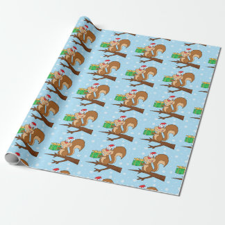 Cute Christmas Squirrel Wrapping Paper