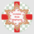 Cute Christmas star cookie Classic Round Sticker