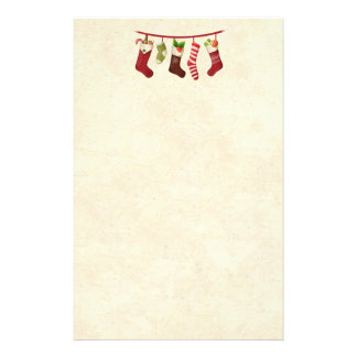 Cute Christmas Stockings Personalised Stationery