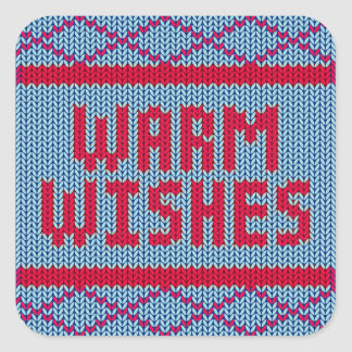 Cute Christmas Sweater Warm Wishes | Sticker