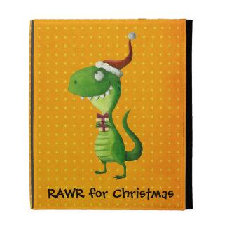 Cute Christmas T-rex iPad Case