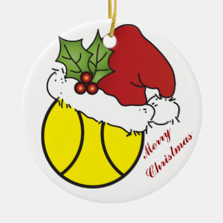 Cute Christmas Tennis Design Christmas Ornament