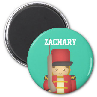 Cute Christmas Toy Soldier Boy in Red Magnet