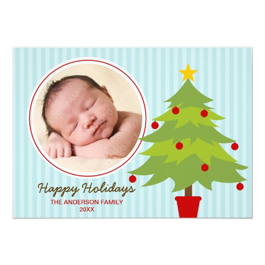 Cute Christmas Tree Holiday Photo Card