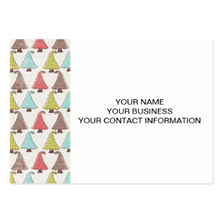Cute Christmas Trees Pattern Business Card