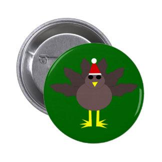 Cute Christmas Turkey Button