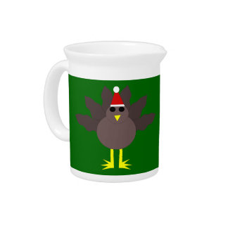 Cute Christmas Turkey Pitcher