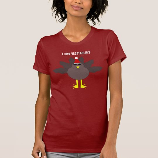 Cute Christmas Turkey Vegetarians Custom T Shi T-Shirt