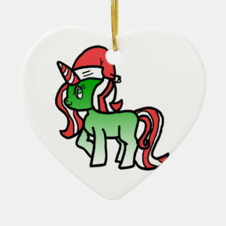 Cute Christmas Unicorn Christmas Ornament