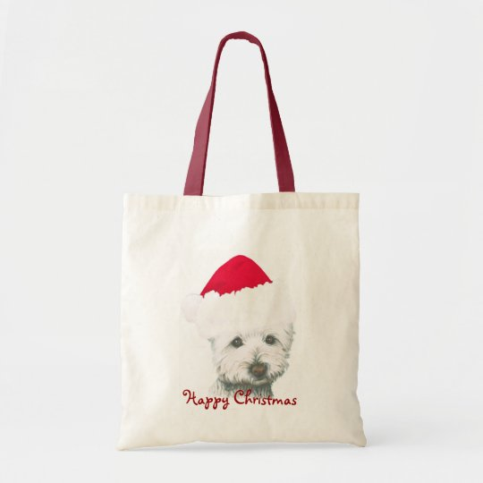 Cute Christmas Westie Dog