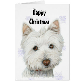 Cute Christmas Westie Dog Gifts Card
