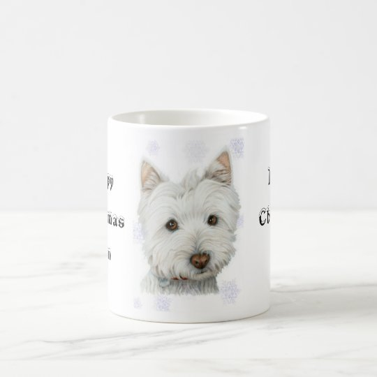 Cute Christmas Westie Dog Gifts Coffee Mug