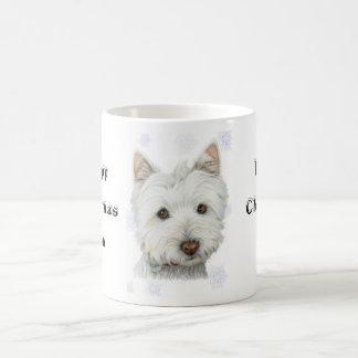 Cute Christmas Westie Dog Gifts Basic White Mug