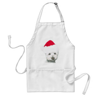 Cute Christmas Westie Dog Standard Apron