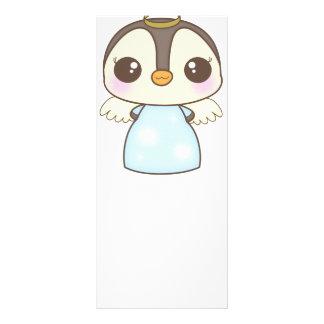 cute christmas winter angel penguin custom rack card