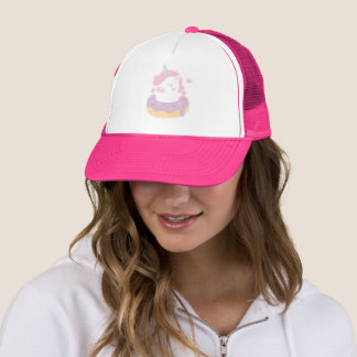 Cute Chubby Baby Unicorn in Donut Girls Hat