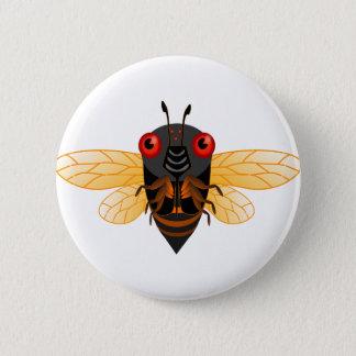 Cute Cicada 6 Cm Round Badge
